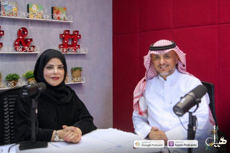 الدكتورة زينب الخضيري مع الكاتب محمد حمزة